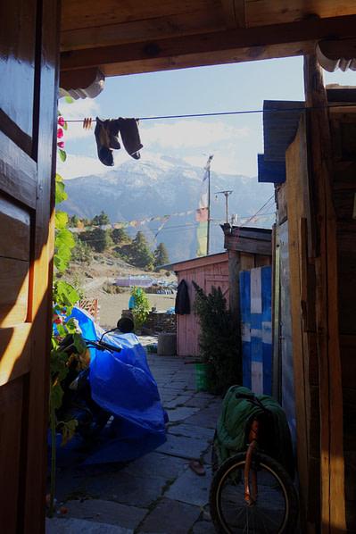 Annapurna Circuit Lodge Blick