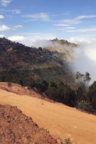 Usambara Mountains Weg Nebel Blick