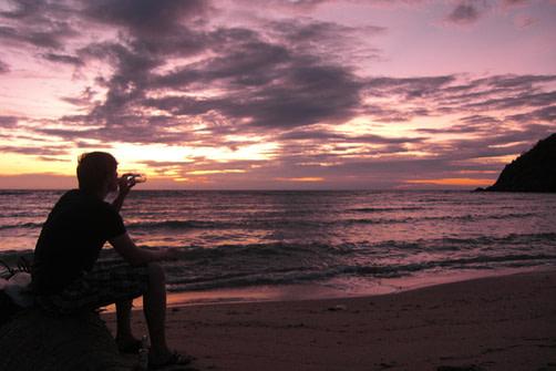 Thailand Koh Phangan Strand Matthias Sonnenuntergang