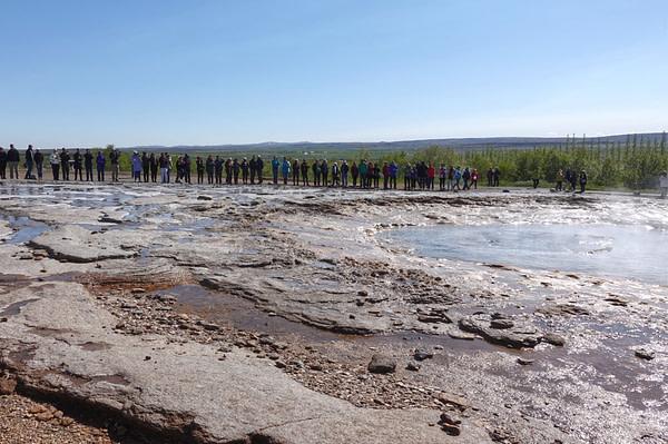 Geysir Touristen