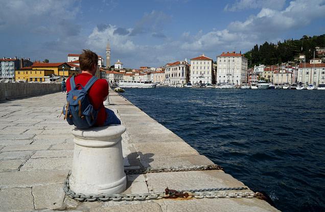 Piran Matthias im Hafen