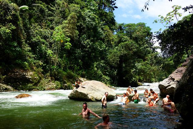 Ciudad Perdida Fluss Abkühlung