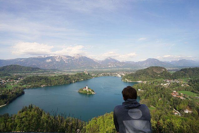 Bled Blick auf See Aussichtspunkt Matthias