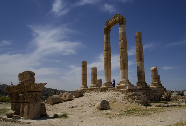 Amman Herkulestempel Franzi weit