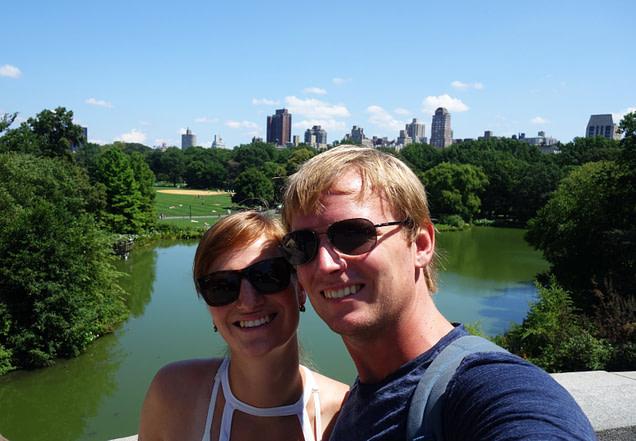 New York Central Park Paar