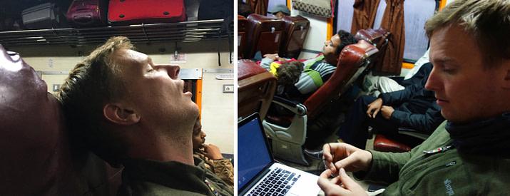 Indien Zugfahren AC Chair Collage