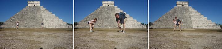 Chichen Itza Collage Pyramide