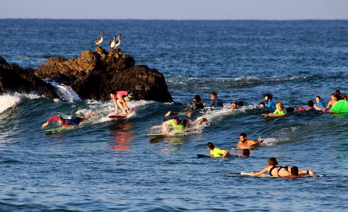 Puerto Escondido Surfen La Punte voll