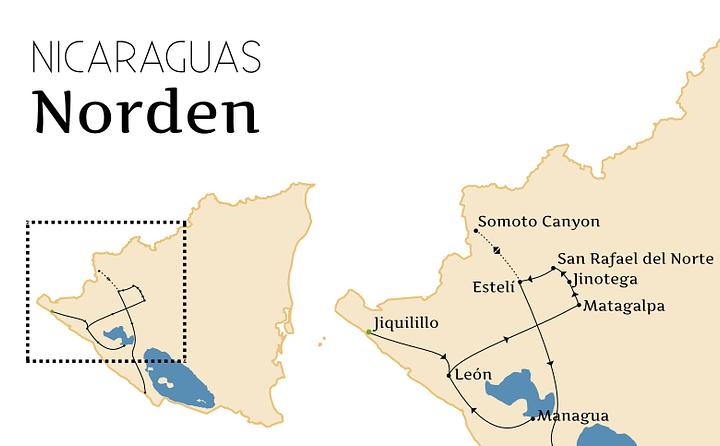 Nicaragua Norden Route