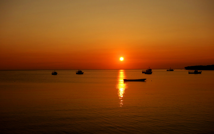 Little Corn Island Sonnenuntergang