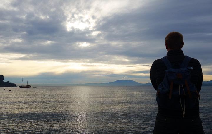 Puerto Varas Blick auf Vulkan Matthias