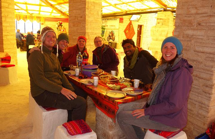Salar de Uyuni Essen im Salzhotel