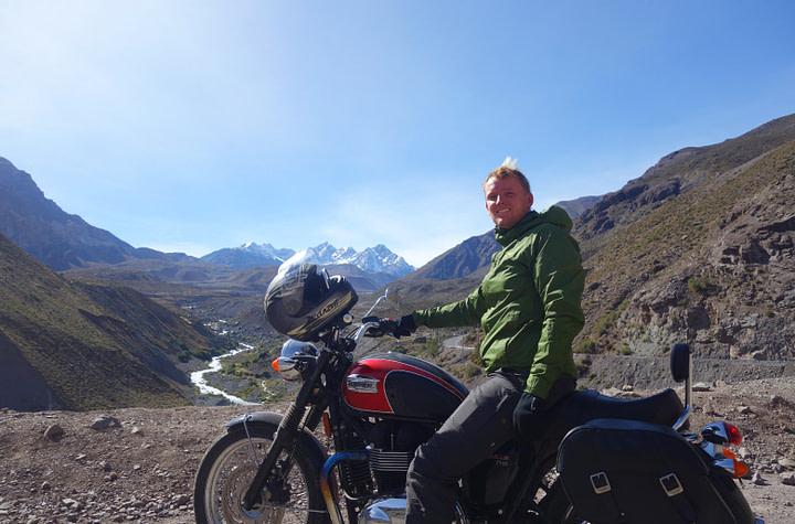 Cajon del Maipo Motorradtour Matthias