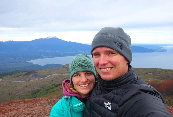 Vulkan Osorno Ausblick Paar