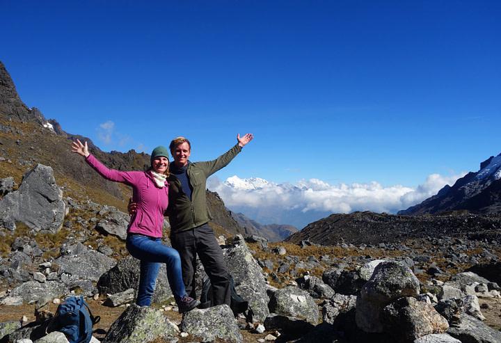Salkantay Trek Salkantay Pass Paar