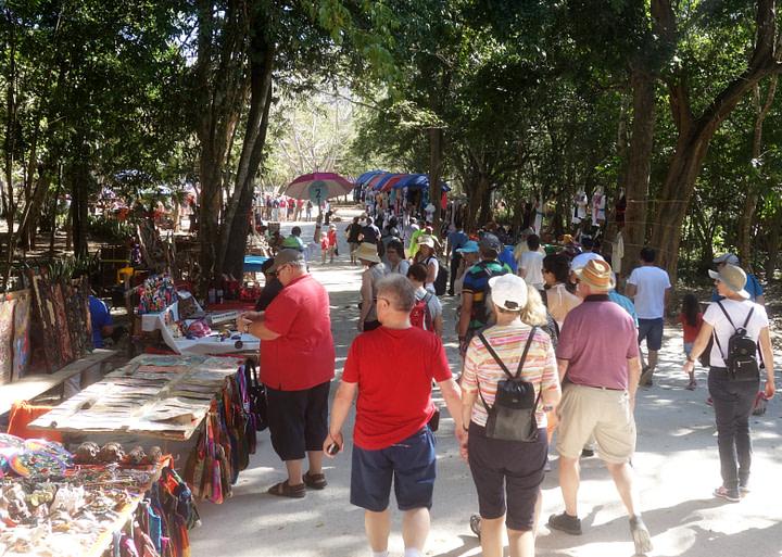 Chichen Itza Touristenmassen