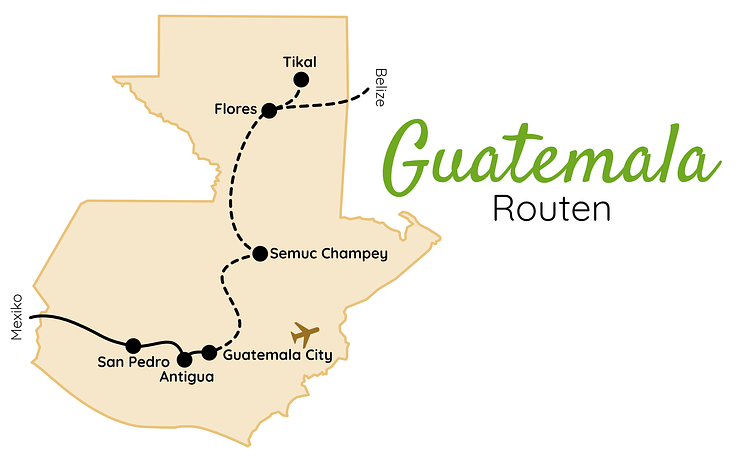 Guatemala Routen