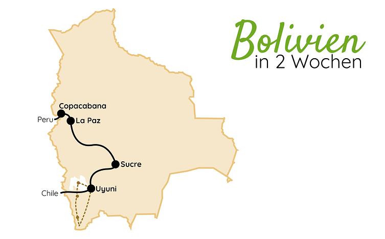 Bolivien Route 2 Wochen