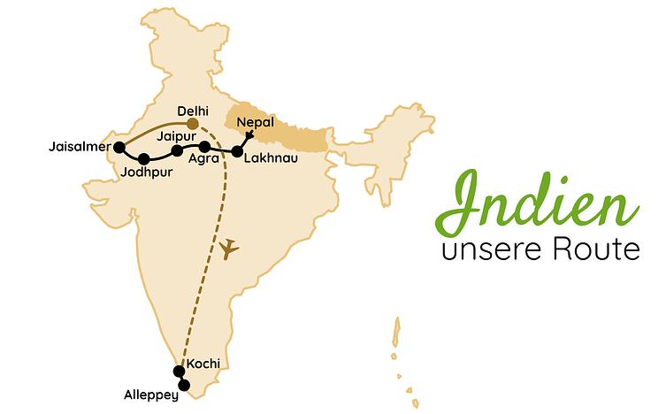 Indien Route