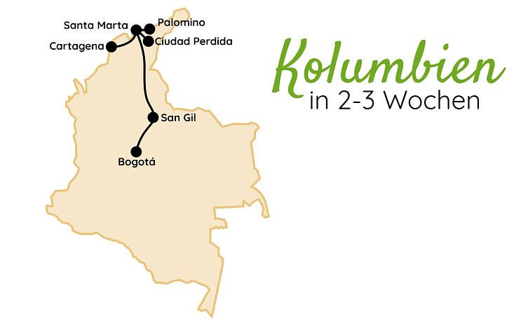 Kolumbien Route