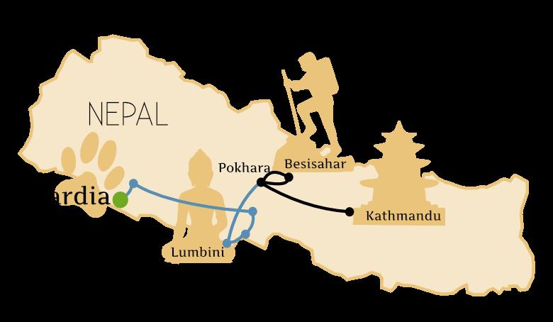 Bardia Nationalpark Anreise Map