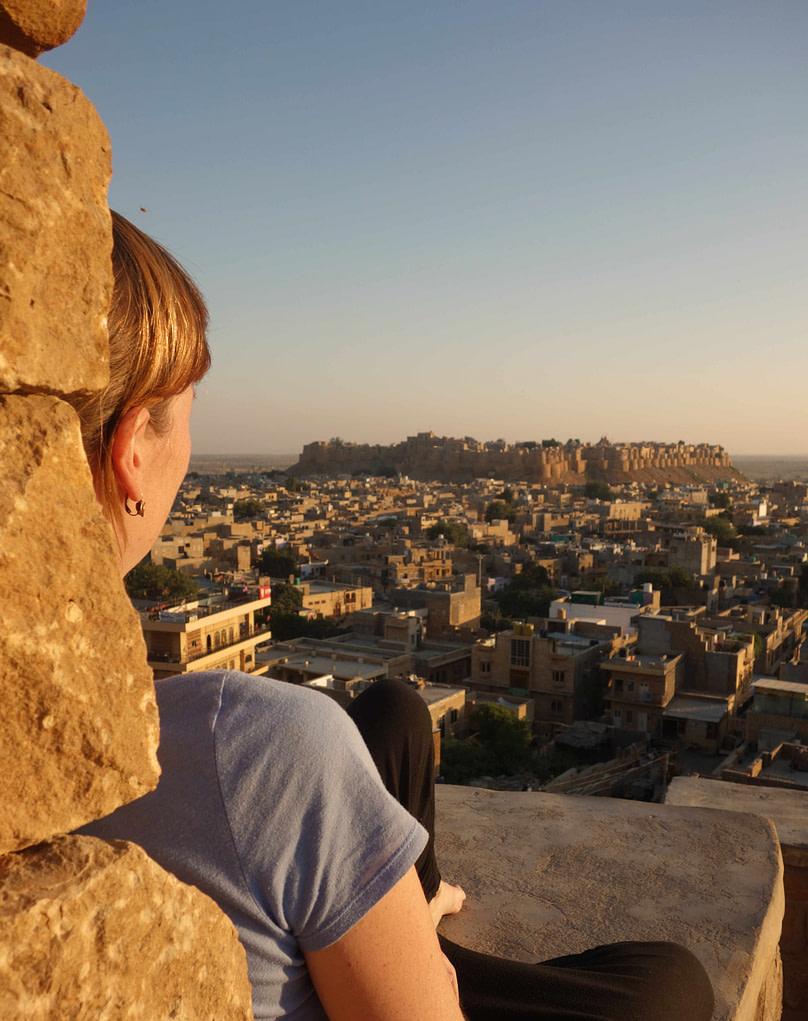 Jaisalmer Fort Sonnenuntergang Franzi