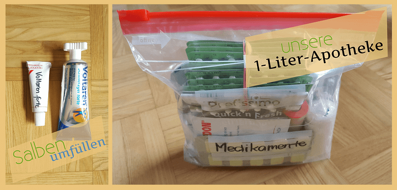 Packliste Weltreise Planung Medikamente