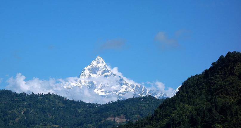 Pokhara Blick auf Machupuchare