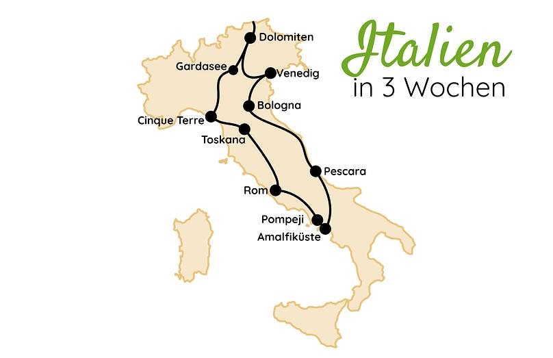 Italien Route 3 Wochen