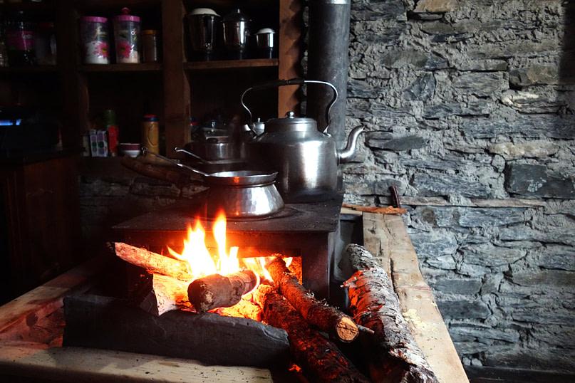 Annapurna Circuit Feuerstelle Küche