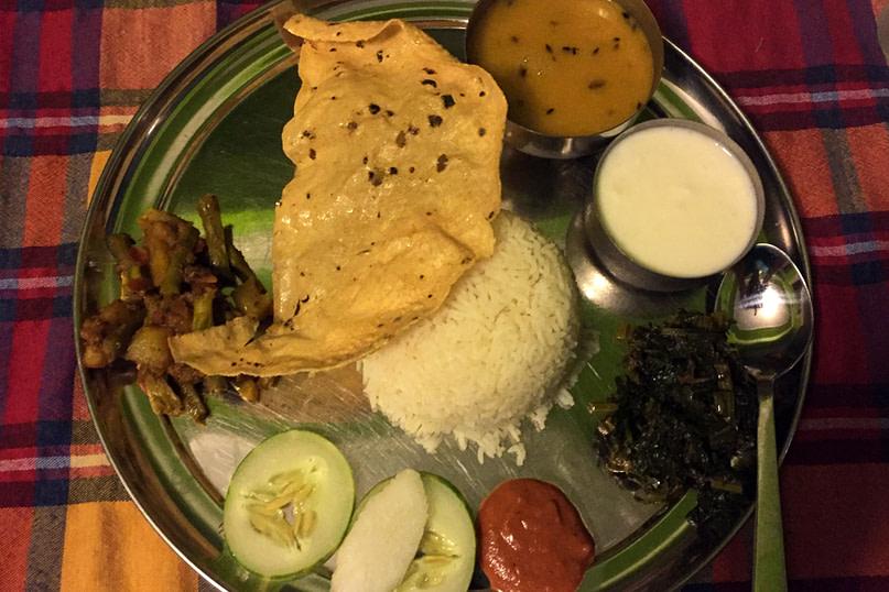 Nepal Essen Dal Bhat II