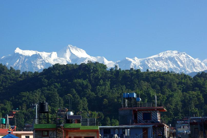 Pokhara Blick Hotel Berge