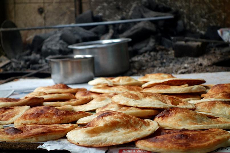Indien Essen Kulcha