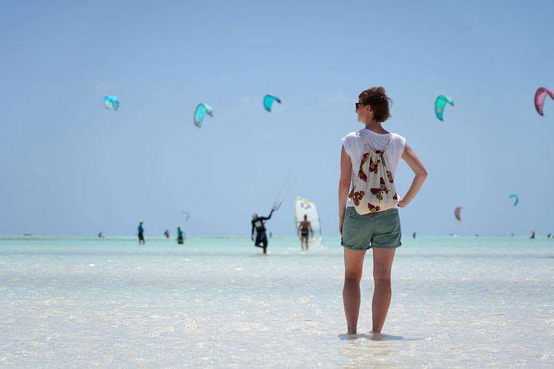 Paje Strand Kitesurfen