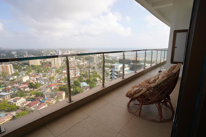 Dar Es Salaam Penthouse Balkon