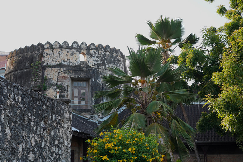Old Fort mit Palmen