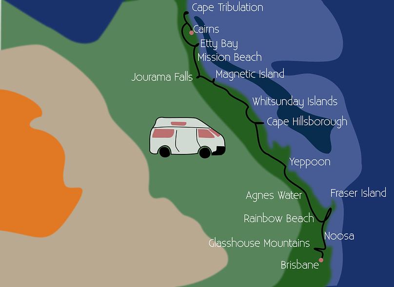 Australien Camper Trip Route