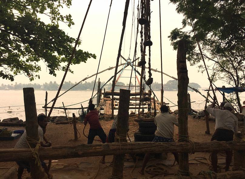 Kochi Chinesische Fischernetze