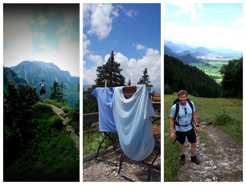 Tegelberg Wanderung Collage