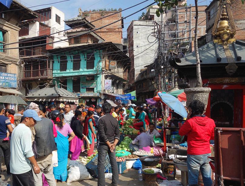 Kathmandu Markt Wuselei