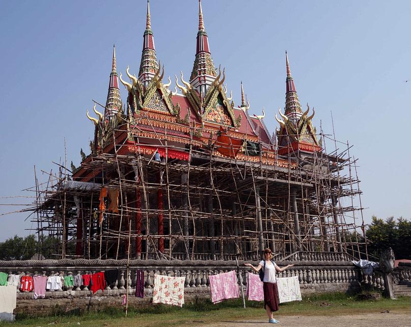 Lumbini Tempel Cambodia Baugerüst